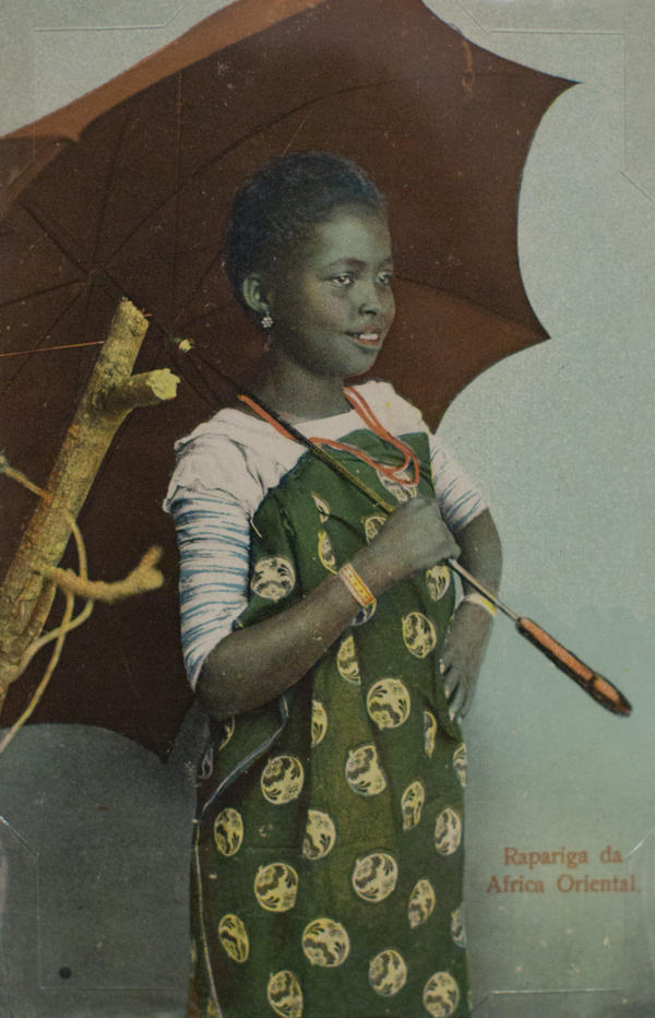 <em>Rapariga da Africa Oriental</em> (present-day Tanzania) by J.P. Fernandes. Photograph taken before 1900; postcard printed circa 1912.