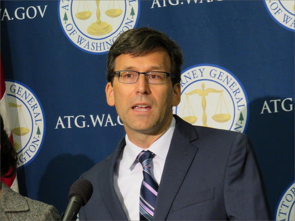 File photo. Washington Attorney General Bob Ferguson filed campaign finance lawsuits against Facebook and Google on Monday.