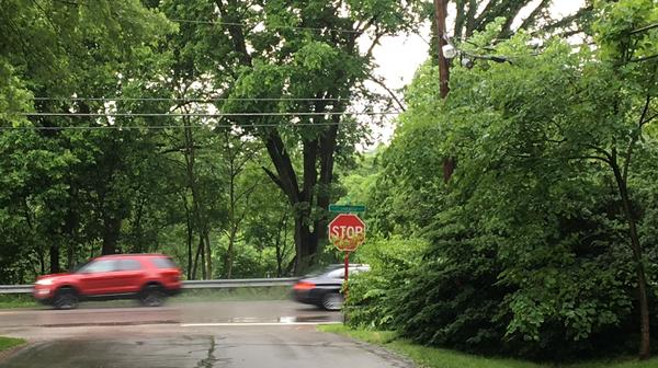 Stop sign in Columbus (pic has been altered to hide name of street)
