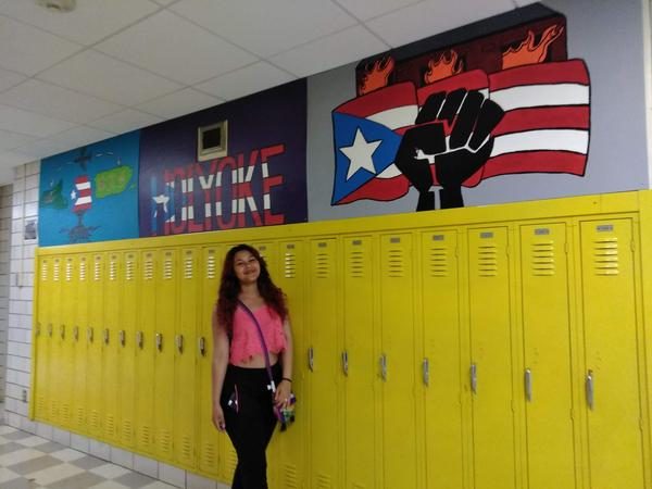 Mayrangelique Rojas De Leon came to Holyoke High School from Puerto Rico after Hurricane Maria. She graduated June 3, 2018.