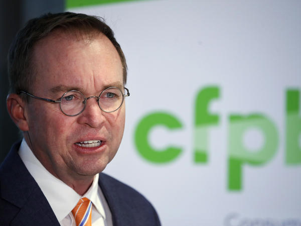 Mick Mulvaney speaks during a November news conference at the Consumer Financial Protection Bureau. On Wednesday, he moved to effectively disband the agency's Consumer Advisory Council.