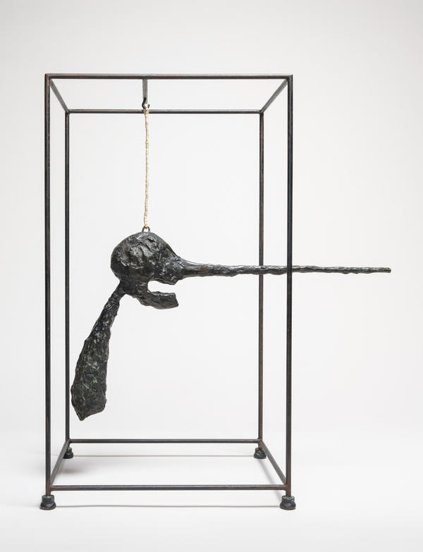 Giacometti created <em>The Nose </em>(<em>Le nez</em>) in 1949 out of bronze, wire, rope and steel.