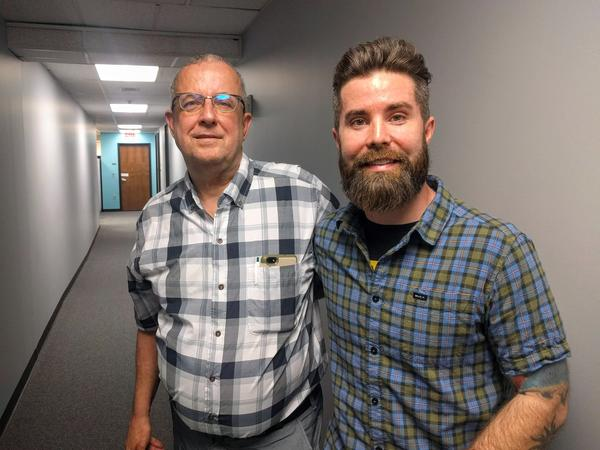 Jon Barnett, left, was deeply involved in the push to add sexual orientation to Kansas City Civil Rights Ordinance. Filmmaker Austin Williams is working on a documentary about the initiative.