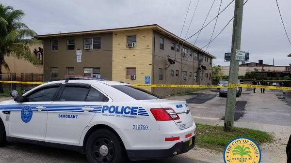 Crime scene on NW 64th St. in Miami
