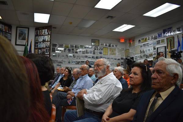 Community members gathered at The Bay of Pigs Museum, also known as the Brigade 2506 Museum and Library, in Little Havana on Wednesday.