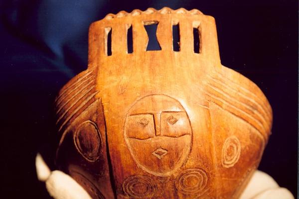 <p>A horn bowl from the new exhibit at the museum on the Grand Ronde reservation.</p>