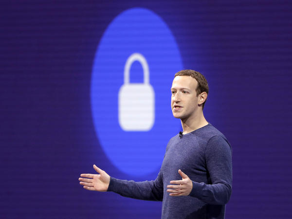 Facebook CEO Mark Zuckerberg is pictured at F8, Facebook's developer conference last month. On Thursday, the company announced a new test feature had changed users' privacy settings without their consent.
