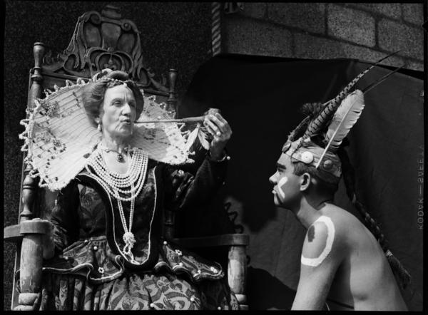 A production of the play 'The Lost Colony' with Karl Cassell as a Native American.