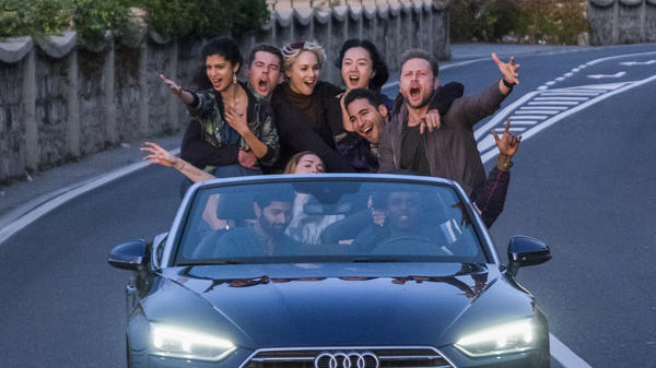 Clusterfest: Tina Desai, Brian J. Smith, Tuppence Middleton, Doona Bae, Miguel Ángel Silvestre, Max Riemelt, Jamie Clayton, Purab Kohli and Toby Onwumere in <em>Sense8.</em>