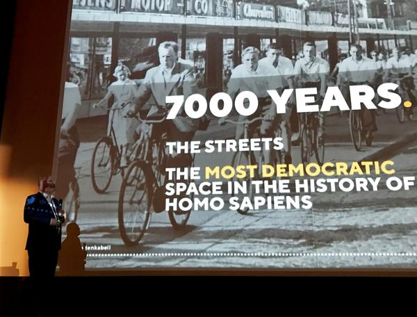 Morten Kabell says returning streets to bicycles is, in a way, returning them to democracy.