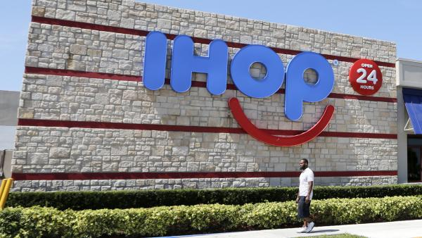 It's not yet clear when or if IHOP will change the signs at its restaurants, such as this one in Hialeah, Fla.