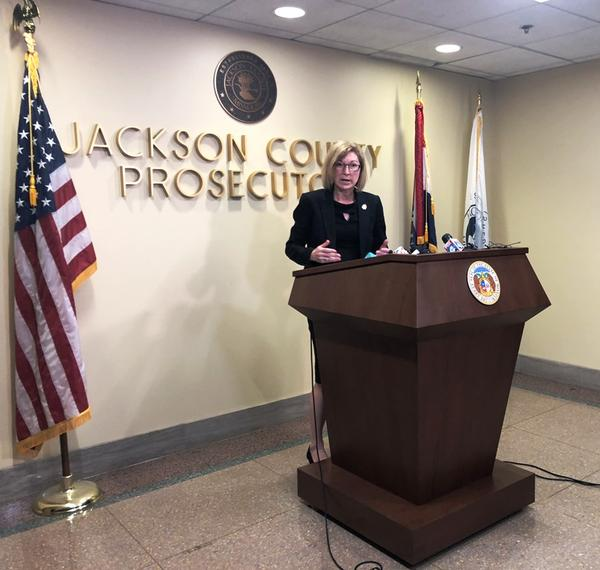 Jackson County Prosecutor Jean Peters Baker announces Friday that she will not charge former Gov. Eric Greitens with any crimes.