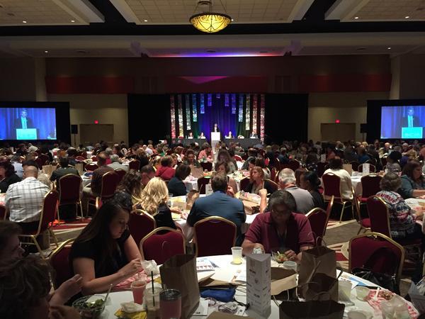 U.S. Sen. Rob Portman (R-Ohio) addresses the Ohio Association of County Behavioral Health Authorities in Columbus.