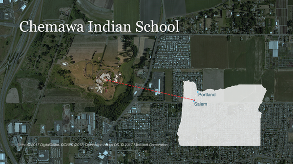 <p>Chemawa Indian School is located just north of Salem off of I-5.</p>