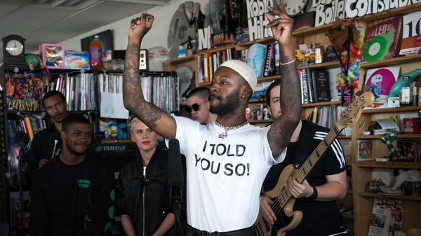 Goldlink performs a Tiny Desk Concert on May 3, 2018.