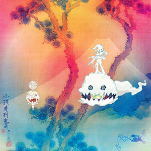 The cover art to <em>Kids See Ghosts, </em>designed by Takashi Murakami.