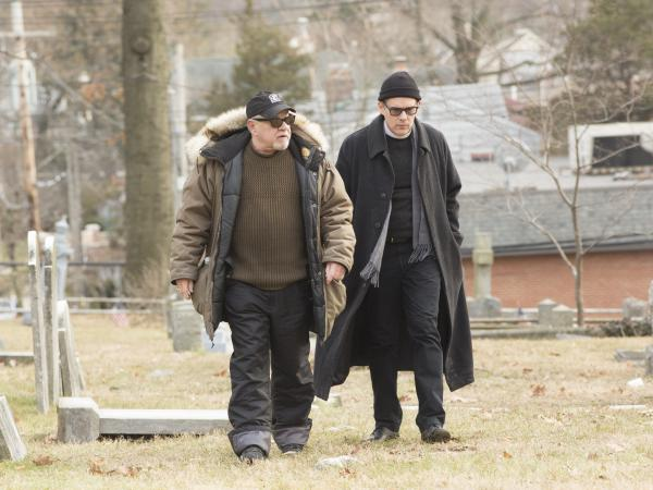 "Screenwriter/director Paul Schrader, left, says that as he was writing the script for <em>First Reformed,</em> he knew he wanted Ethan Hawke to play the main character. ""He was just coming to a very interesting place in his physical life,"" Schrader says of Hawke."