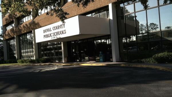 The Duval County Public Schools headquarters building on Jacksonville's Southbank is pictured.