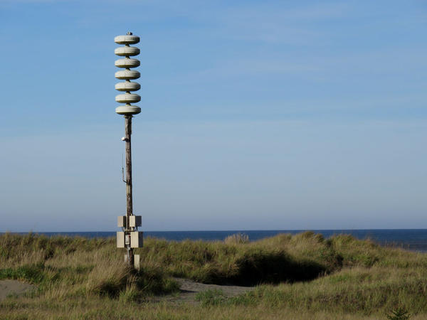 A tsunami warning siren in Ocean Shores, Washington.