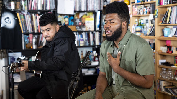Khalid performs a Tiny Desk Concert June 5, 2018.