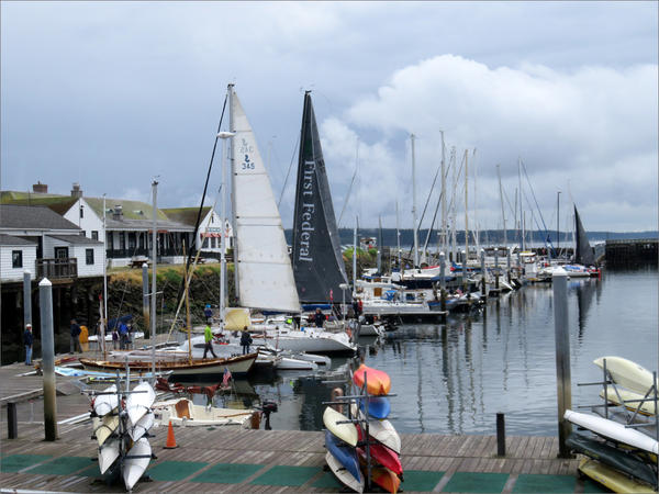 Racing craft filled the Point Hudson Marina in Port Townsend on Wednesday, the eve of the fourth running of the Race to Alaska.
