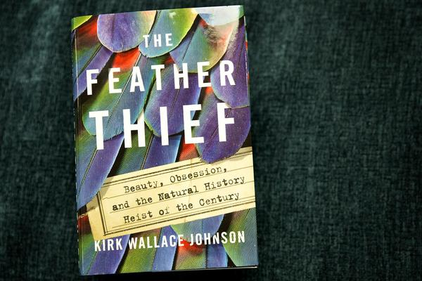 """The Feather Thief,"" by Kirk Wallace Johnson. (Robin Lubbock/WBUR)"