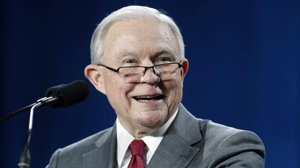 U.S. Attorney General Jeff Sessions speaks at the Western Conservative Summit in Denver on June 8.