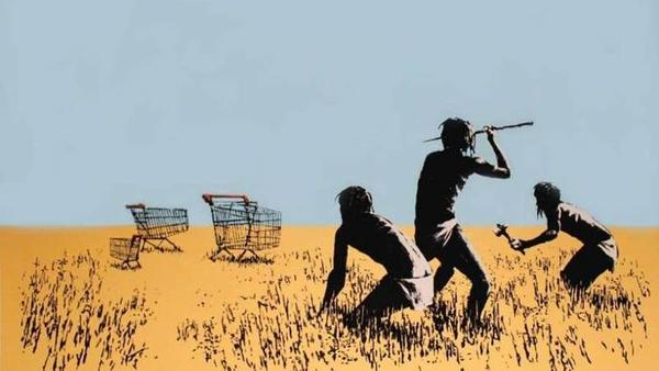 The Toronto Police Service released this image of the Banksy print <em>Trolley Hunters</em>, apparently stolen from an exhibit Sunday.