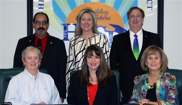 Superintendent Lori Romano (top center) was fired by the Hernando County School Board at its meeting Tuesday.