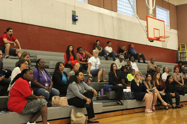 Parents, non-profit executives and community members attend the 'It Takes A Village' forum on youth violence in the Goulds Parks Community Center on Thursday, June 14, 2018.