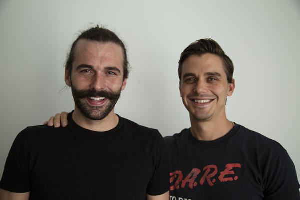 <em>Queer Eye</em> cast members Jonathan Van Ness (left) and Antoni Porowski. Netfilx recently released the show's second season.
