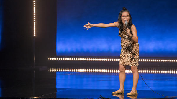 Ali Wong performing during her latest Netflix stand-up special, <em>Hard Knock Wife</em>.