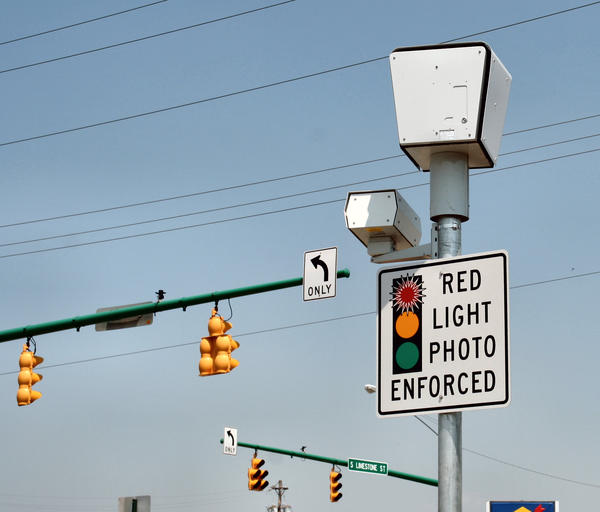 A traffic camera in Springfield, photographed in 2006.