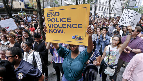 People rallied in front of the Allegheny County Courthouse in Pittsburgh on Thursday, protesting the death of 17-year-old Antwon Rose Jr.