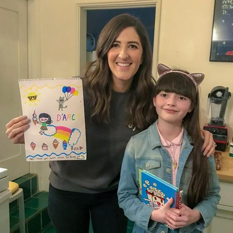 "<p>Bea Red Star Fletcher, creator and host of ""Bea's Big Laughs,"" interviewed comedian D'Arcy Carden for her podcast. </p>"