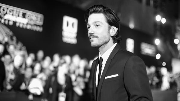 Diego Luna attends the Hollywood premiere of <em>Rogue One: A Star Wars Story</em> on Dec. 10, 2016. Luna lives in Mexico City and, as a political activist, he sees himself as someone who has a voice on both sides of the border.