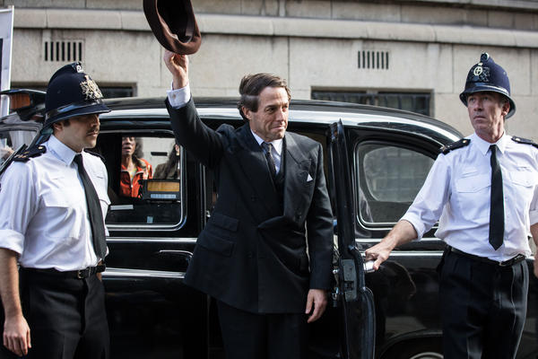 Hugh Grant stars as British politician Jeremy Thorpe in the three-part BBC One miniseries, <em>A Very English Scandal. </em>It premieres in the U.S. on Amazon on June 29.