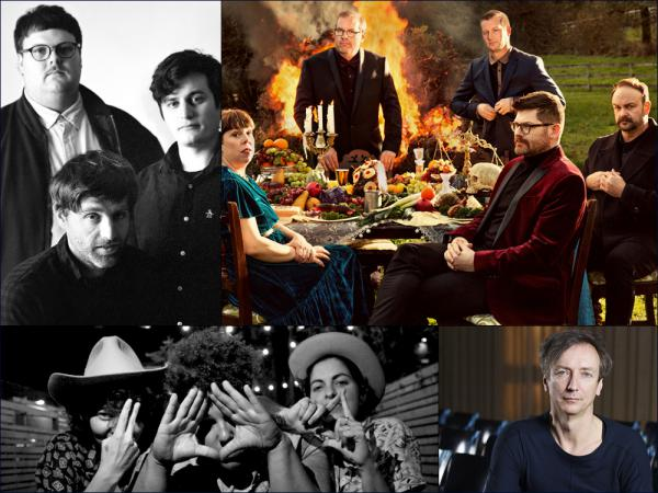 Clockwise from upper left: Shy Boys, The Decemberists, Hauschka, Bermuda Triangle