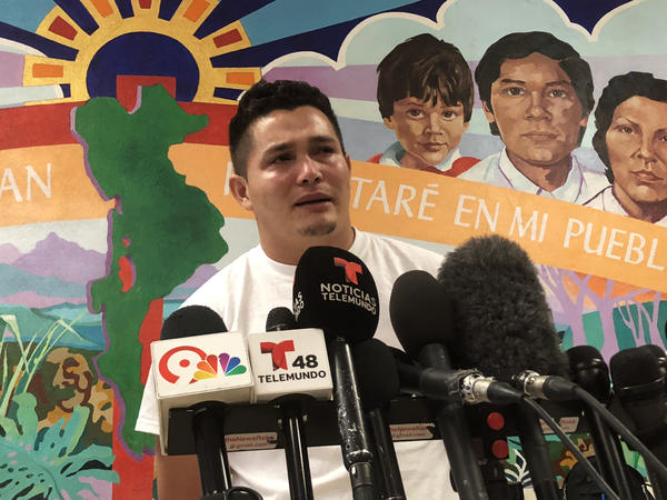 Mario told journalists in El Paso, Texas, that he has been unable to talk to his daughter since they were detained separately a month ago by Immigration and Customs Enforcement.