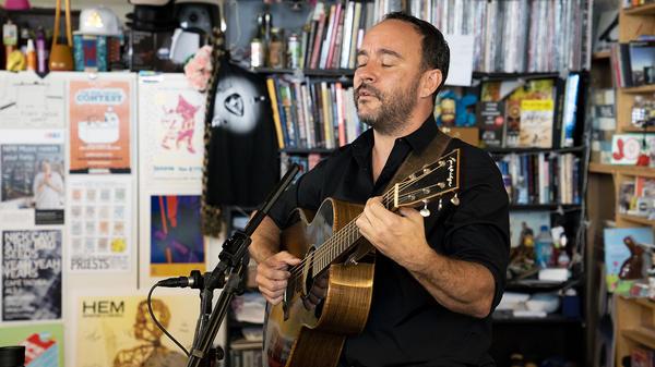 Dave Matthews performs a Tiny Desk Concert on June 11, 2018 (Samantha Clark/NPR).