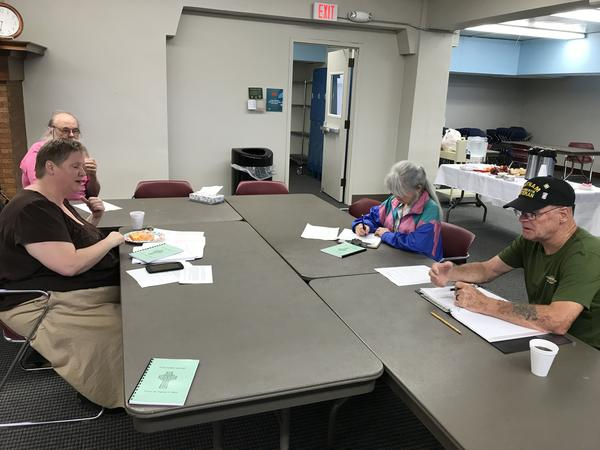 Participants in local Veterans Writing Workshop.
