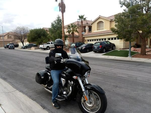 <p>Ali Amhaz, a Legend Solar customer in Las Vegas, rode his black Honda motorcycle to the company's headquarters to demand a refund on his $28,000 deposit. He's still waiting for payment.</p>