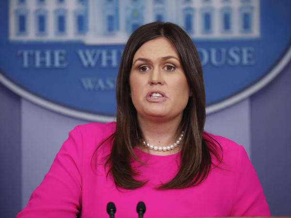"In a press briefing on Monday, White House press secretary Sarah Sanders said she was asked to leave a restaurant in Lexington, Va., ""because I work for President Trump."""