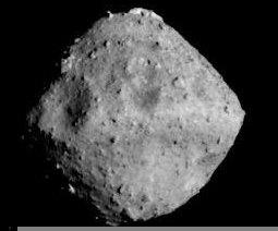 Asteroid Ryugu, photographed on June 26 by the Hayabusa2 spacecraft, was the Japanese mission's destination. The craft will travel alongside the asteroid for 18 months.