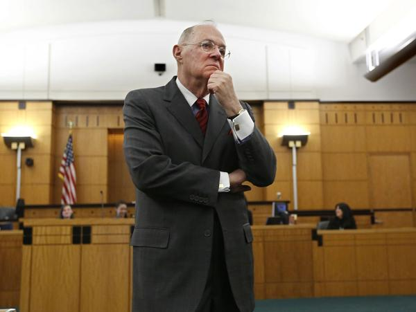 Supreme Court Justice Anthony Kennedy, listens to the response to a question he posed to a high school student during his visit to the Robert T. Matsui Federal Courthouse in Sacramento, Calif., Wednesday, March 6, 2013. (Rich Pedroncelli/AP)