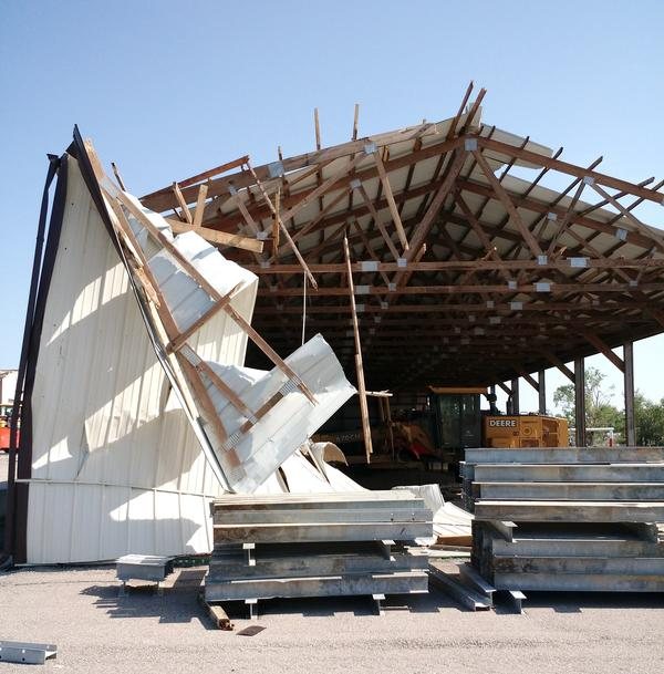 A KDOT facility in Eureka was damaged by a tornado that hit on June 26, 2018