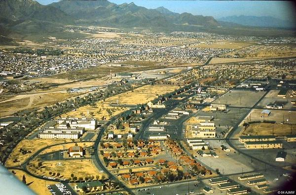 Aerial view of Fort Bliss