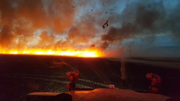 A fire which broke out Wednesday night in the hills above Prosser is now 80 percent contained.