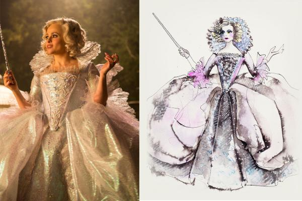 Sandy Powell's sketches for the film <em>Cinderella.</em>
