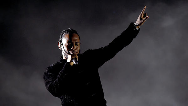 Kendrick Lamar performs a <em>DAMN.</em>-heavy set on Sunday at the 2017 Coachella Valley Music and Arts Festival.